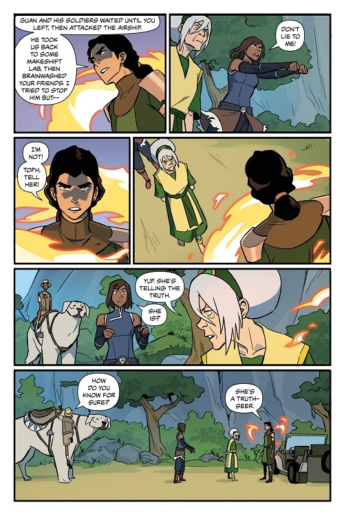 Maintains a ring of fire around Kuvira for an extended time without burning Kuvira or Toph standing in font of her