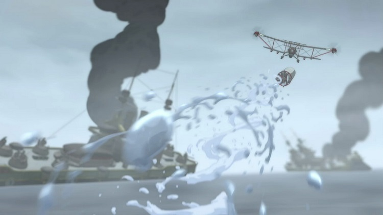 From deep underwater Korra could still land this torpedo right on target