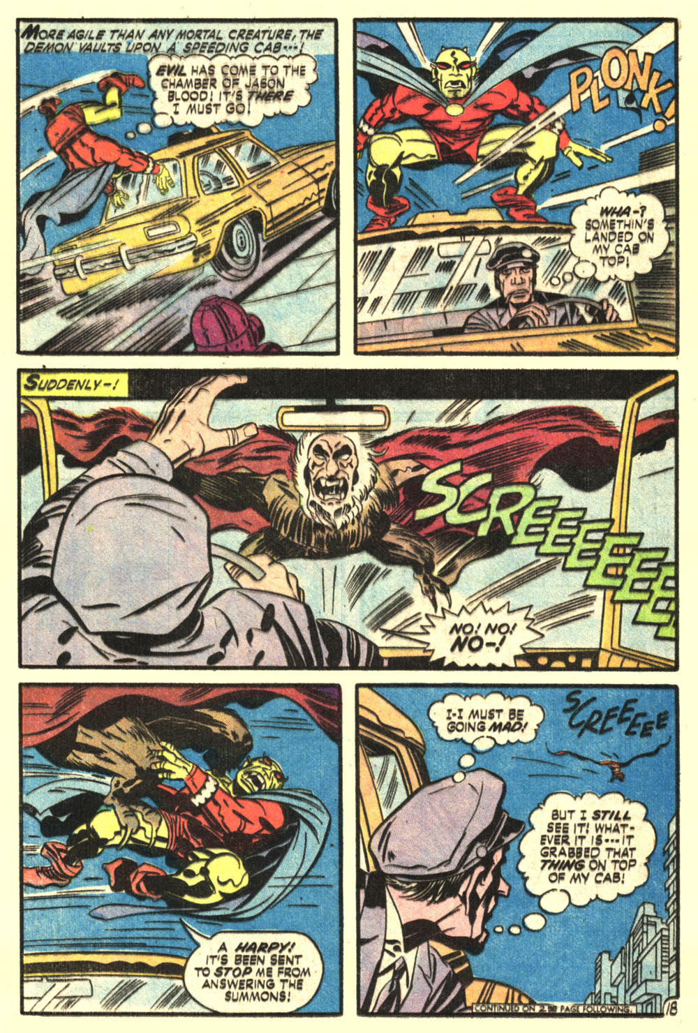 Jack Kirby writes that Etrigan is more agile than any mortal creature