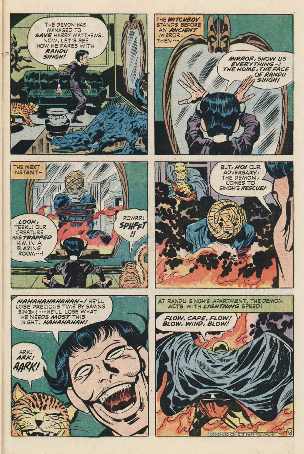 Etrigan acts with lightning speed