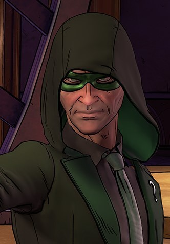 Riddler as he appears in the second entry to the Batman: Telltale series