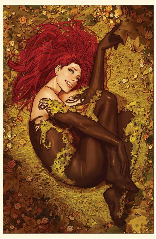 Poison Ivy being reborn