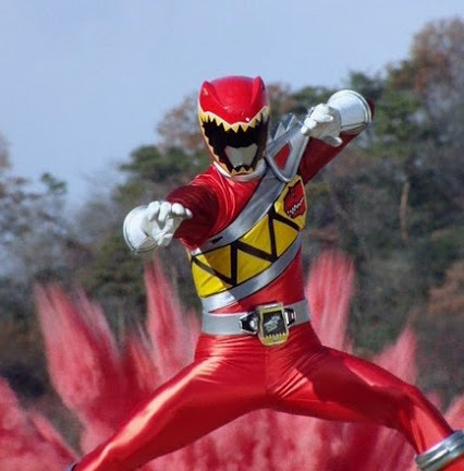 Tyler as the Red Dino Charge Ranger