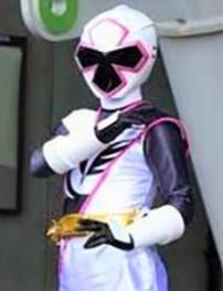 Haley as the White Ninja Steel Ranger