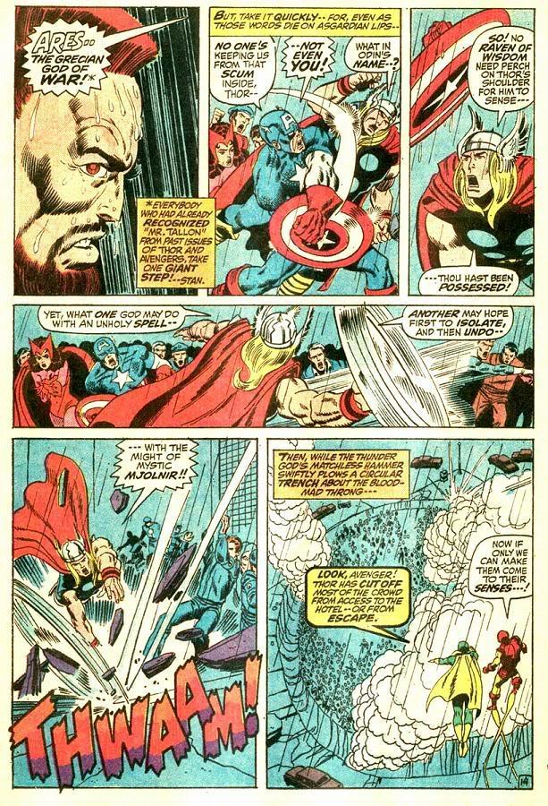 Thor creates a trench in the ground before Captain America or the other avengers could react