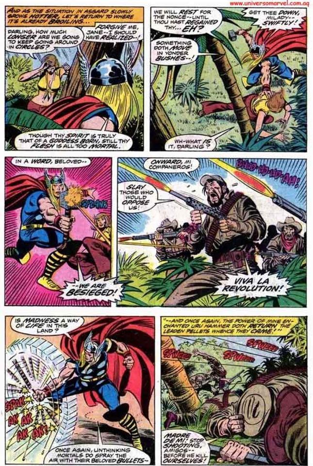 Thor casually stops rapid gunfire