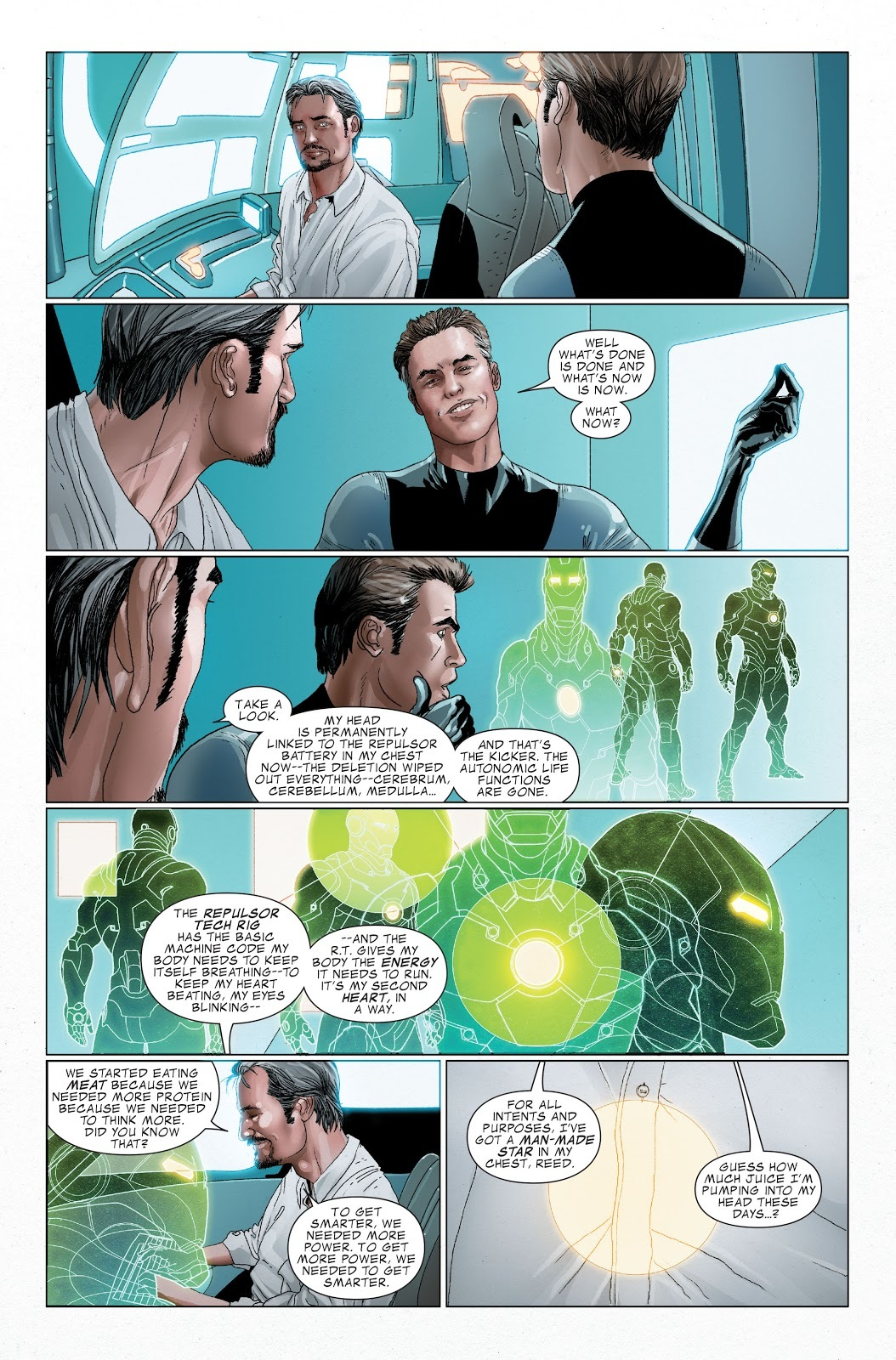 Iron Man compares the new Arc Reactor for the Bleeding Edge to a man-made Star. You might say this is hyperbole but...