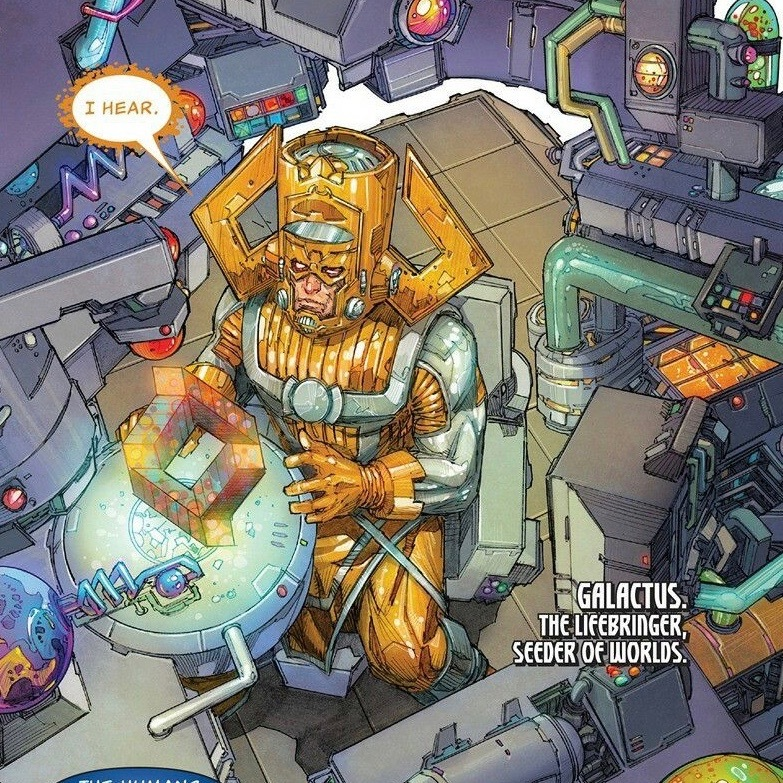 Galactus being contacted about the Ultimates