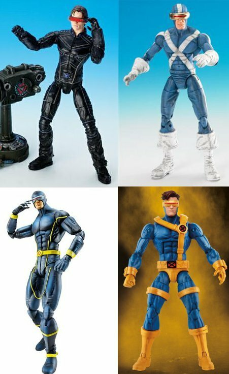 Figures from ToyBiz (top) and Hasbro (bottom)
