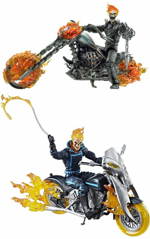 From the Ghost Rider movie and Marvel Legends