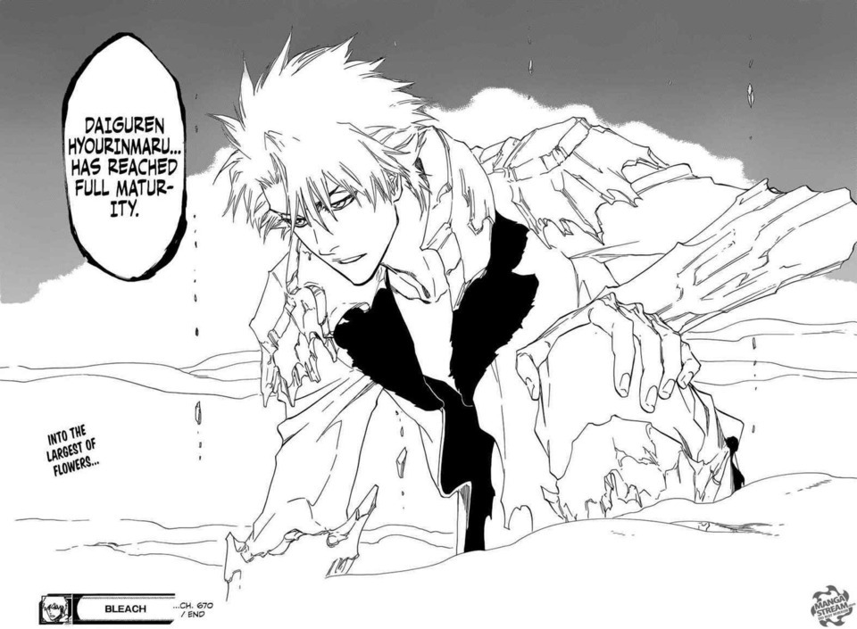 Toshiro In His Completed Bankai