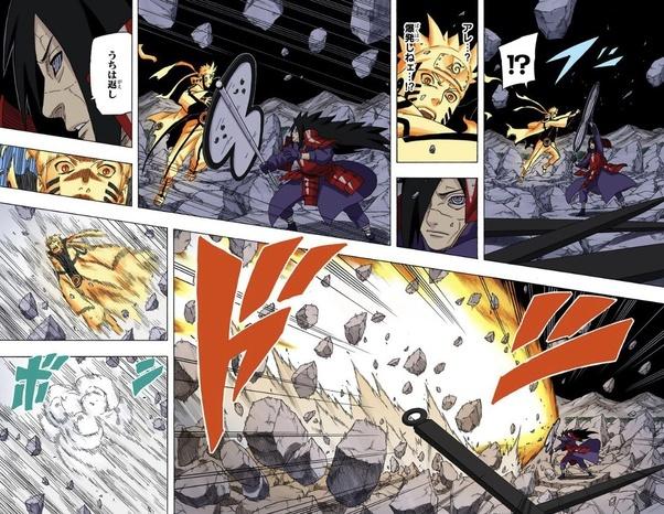 Blocks KCM2 Naruto's rasengan  absorbs it andd deflects it which blows naruto away
