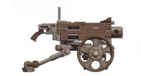 Heavy Bolter (fires fist-size bolts at an astonishing rate)