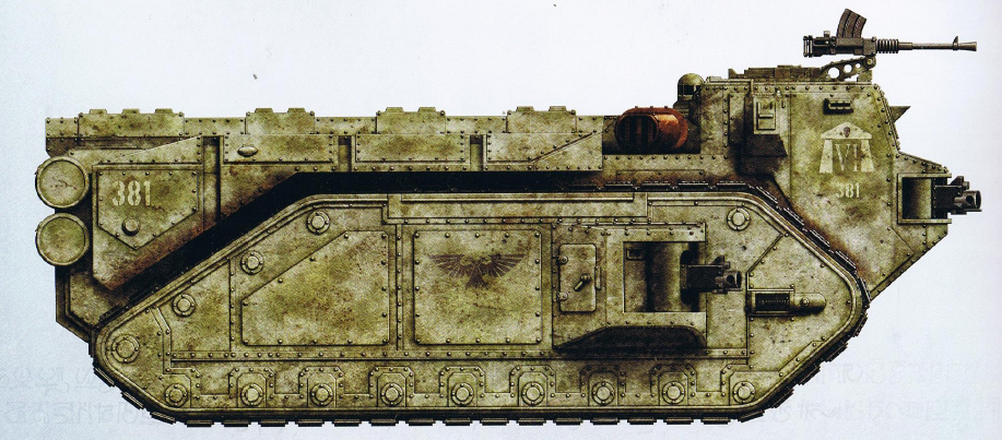 Crassus (large troop transport/mobile fortress including interchangeable weapon loadouts) (transport capacity of twenty)
