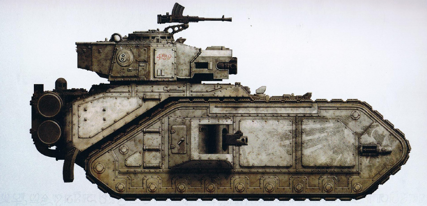 Vulcan-Pattern Macharius (features a turret-mounted Vulcan Mega Bolter instead of the twin-linked battle cannon as well as interchangeable sponson guns)