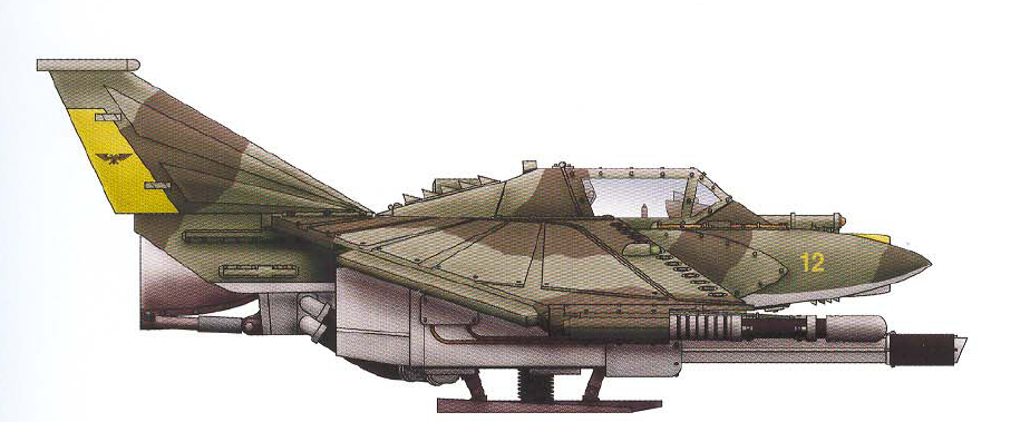 Lightning (lightly-armored and incredibly fast jet fighter armed with a twin-linked multilaser and lascannon)
