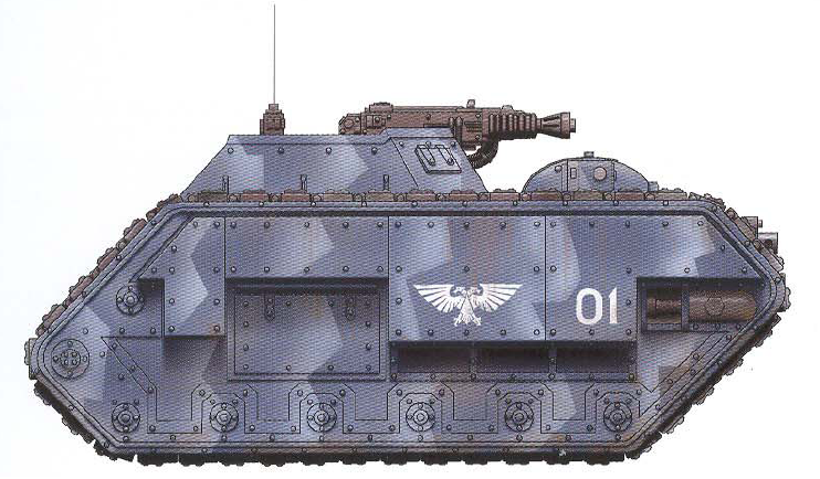 Salamander (heavy support tank with interchangeable weapon loadouts)