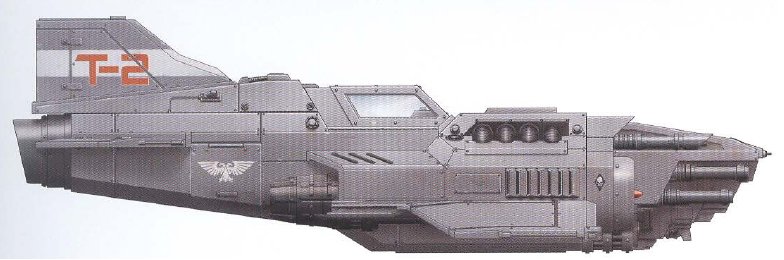 Thunderbolt (heavy jet fighter armed with a twin-linked lascannon and two twin-linked autocannons)