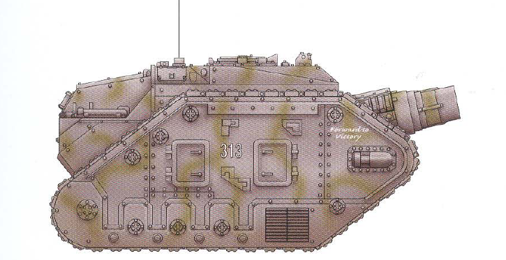 Thunderer (a reinforced battle tank featuring a hull-mounted demolisher cannon)