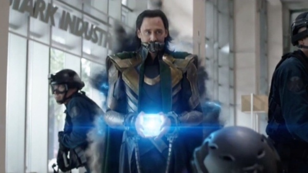 Loki uses the Tesseract to escape