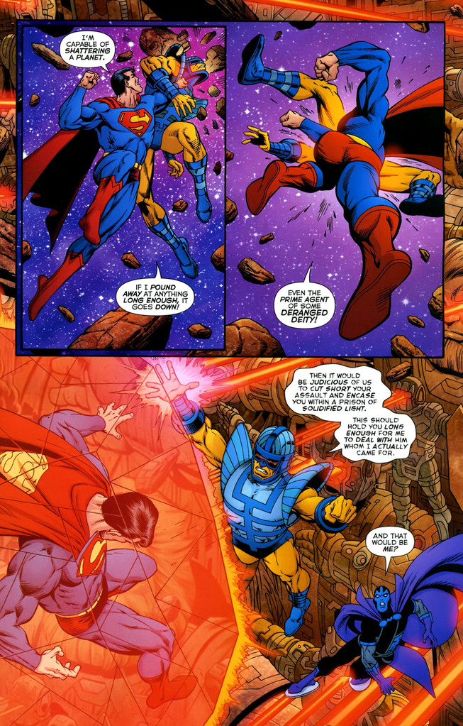 Superman stating that he can shatter a planet
