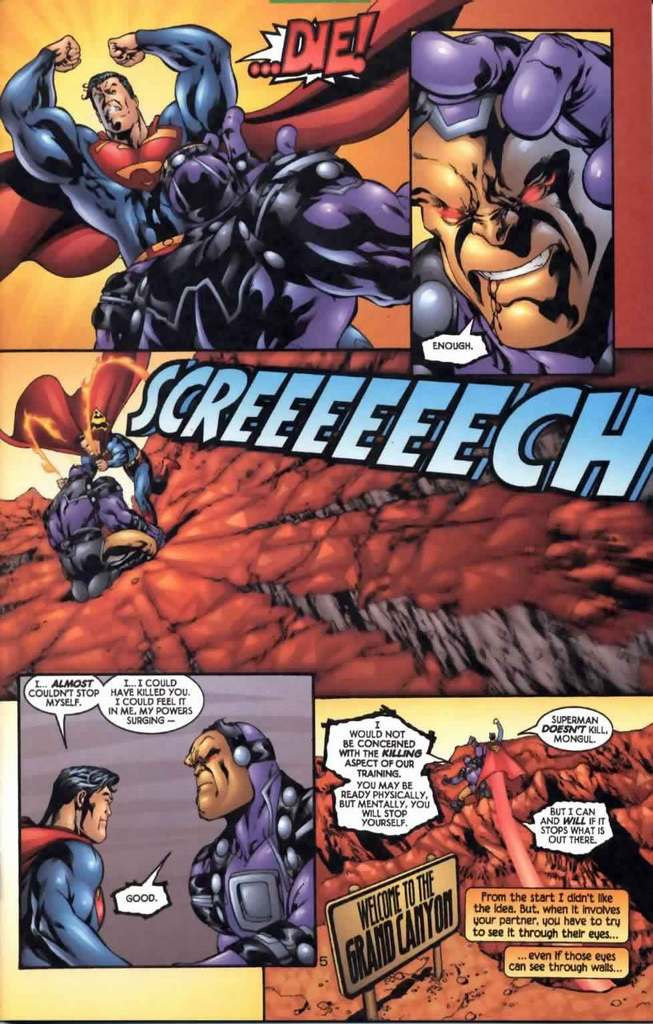 Just the air pressure from his fists could crack the ground plus stating that he could have killed Mongul