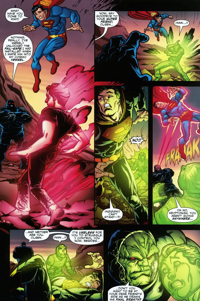Surviving to the Omega Beams while he was exposed to the Kryptonite