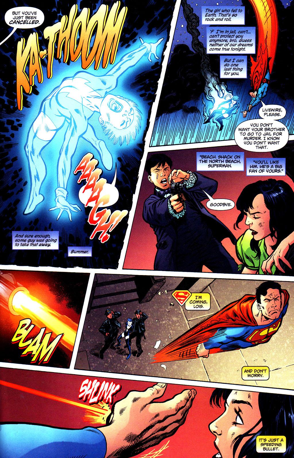 Saving Lois from a bullet despite the fact he was far away