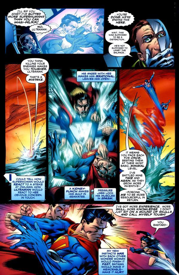 Super-speed pression strikes on Ultraman