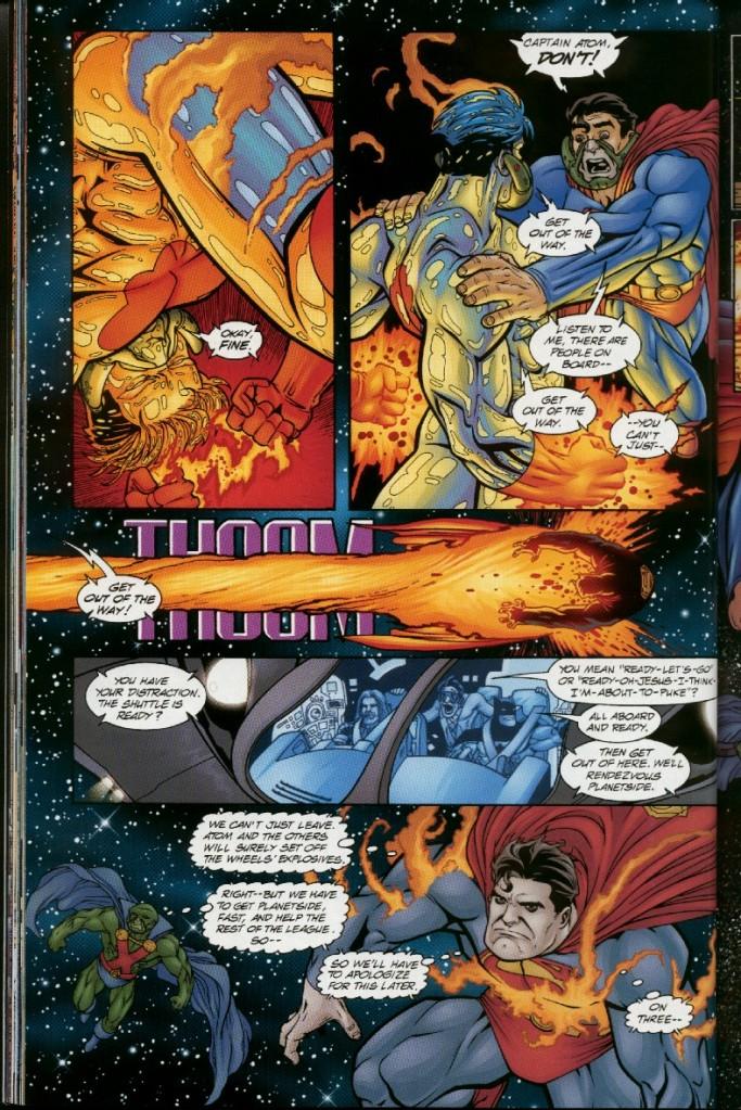 Taking an energy blast from Captain Atom