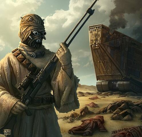Tusken Raider with Cycler Rifle