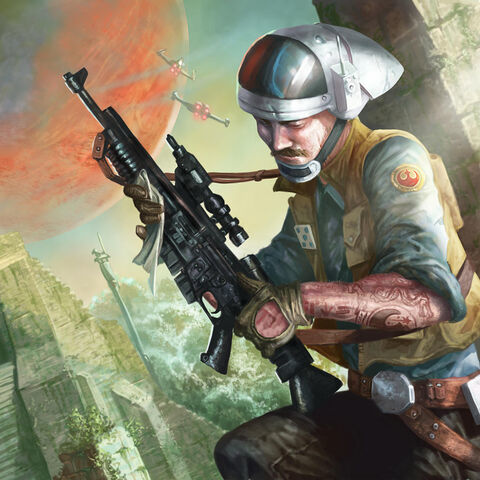 Rebel Trooper with an A280 Blaster Rifle