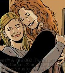 Joyce and Buffy in city of despair