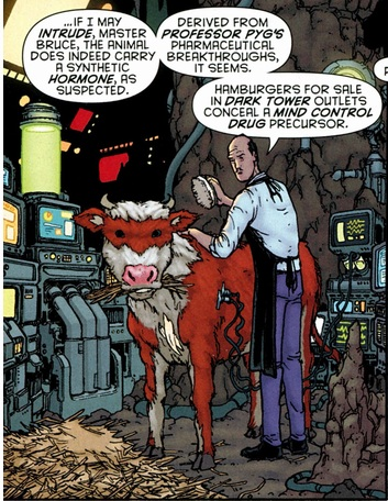 Alfred testing and cleaning Bat-Cow