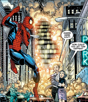 ANSWER THE QUESTION, SPIDEY!