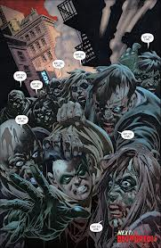 Damian is attacked by Zombies.