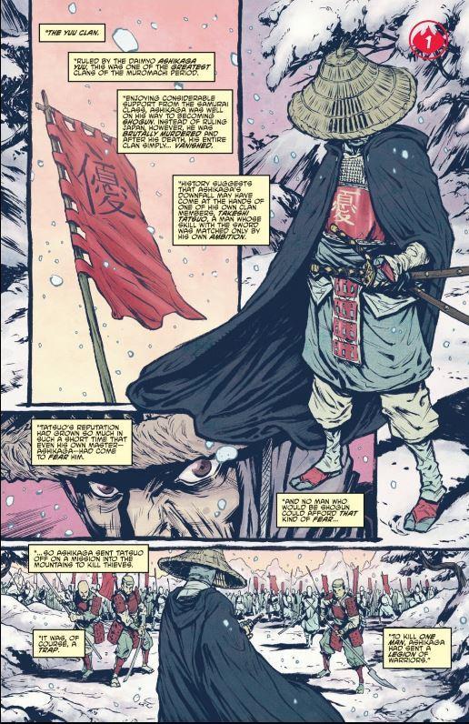 Burnham, E., Santolouco, M., & Grampa, R. (2013). Teenage Mutant Ninja Turtles: Secret History of the Foot Clan. Issue 1. IDW Publishing.