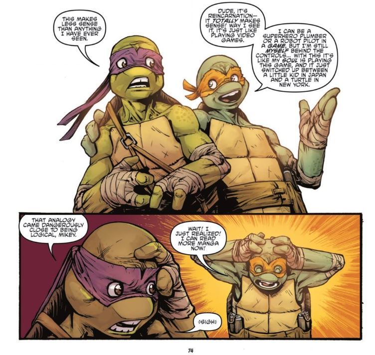 Burnham, E., Santolouco, M., & Grampa, R. (2013). Teenage Mutant Ninja Turtles: Secret History of the Foot Clan. Issue 4. IDW Publishing.