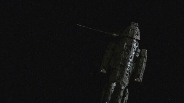 A Smaller Battlestar, Valkyrie firing ship to ship missiles