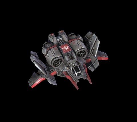 Viking air mode: The viking as shown in air mode. The viking in the air is very powerful having a devastating missile attack.