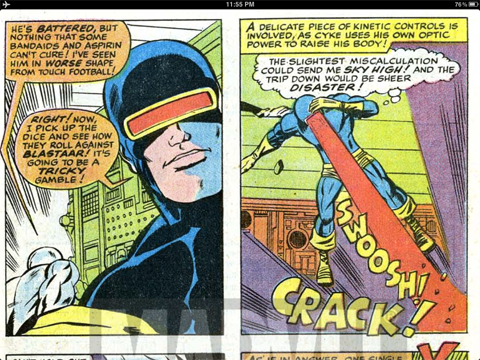 Beaten to the punch by Arnold Drake (writer) and Barry Smith (artist) in the classic Feb. 1969 issue of X-Men #53. Behold: the original Flyclops!