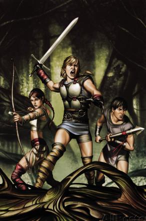 Sif, Thor and Balder