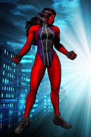 Red She-Hulk in Marvel VS Capcom 3