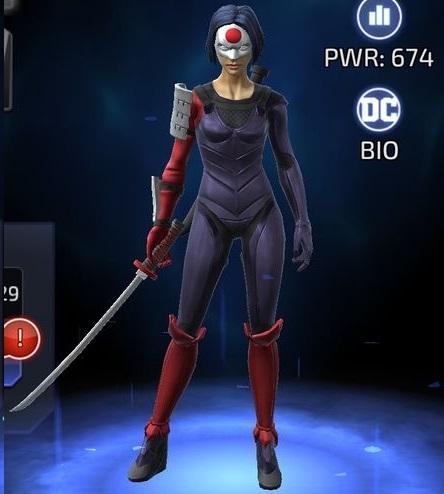 Katana in DC Legends