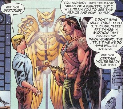 Mentored by Hawkman
