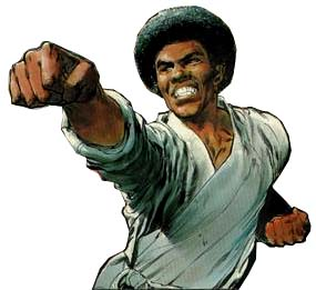 Jim Kelly from the cover of The Deadily Hands of Kung Fu #3
