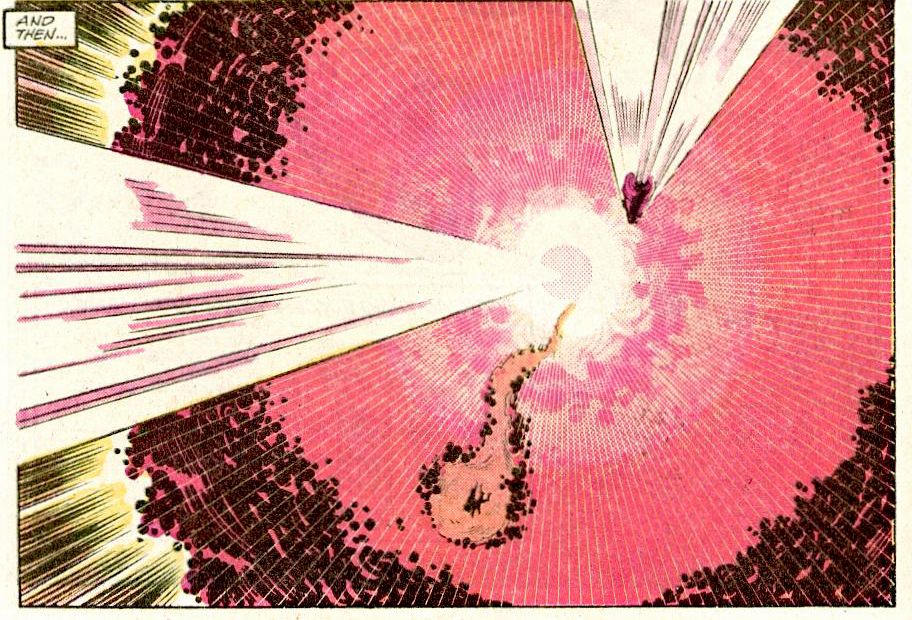 Thor pass through the Doomsday missile and avoid the blast.