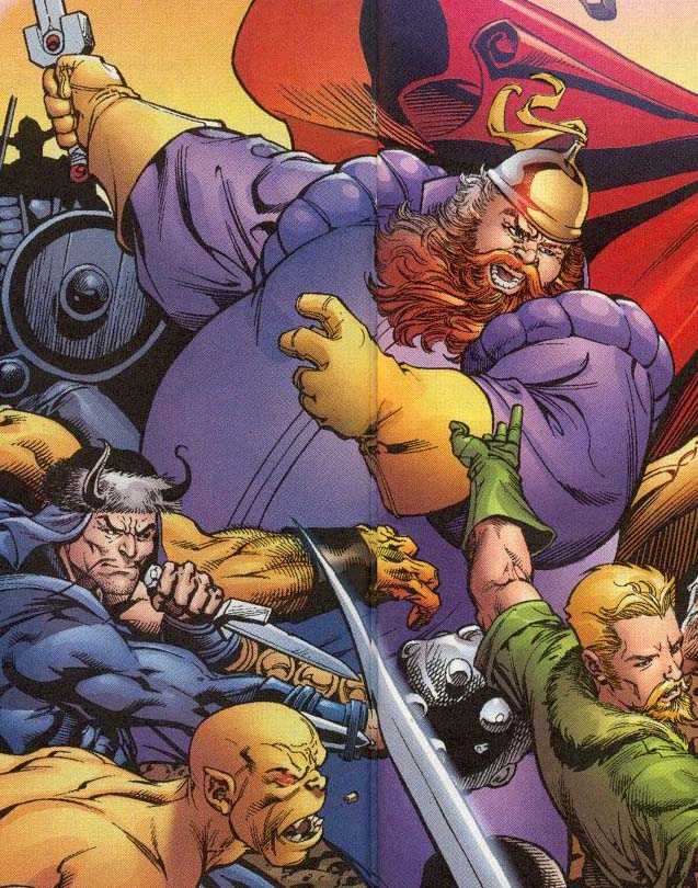 Volstagg proves that the most Asgardians have beards.