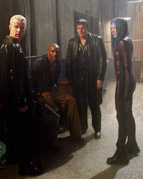 Angel and the surviving members of his team in the final scene of the show.