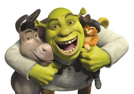 Donkey, Shrek, Puss